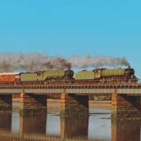 Flying Scotsman and Mayflower Steam trains